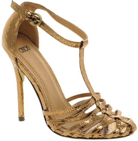 cfaa96659a78 GOLD STRAPY HEELS