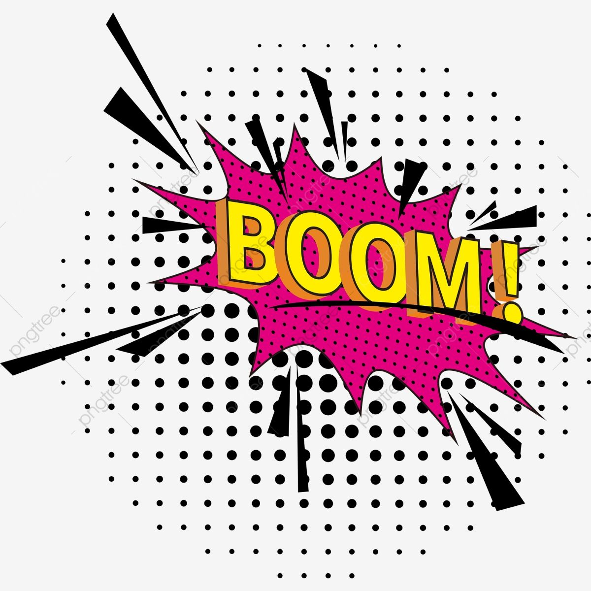 Modern Pop Art Explosion Bubble Boom Modern Pop Art Png And Vector With Transparent Background For Free Download In 2021 Modern Pop Art Pop Art Free Graphic Design