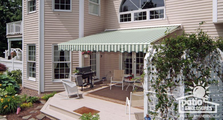 Durasol Retractable Awning Over Deck