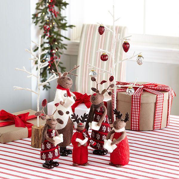 Wisteria Holiday Holiday Decor Trim A Home Reindeer Carolers Set Of 5 Christmas Interiors Holiday Decor