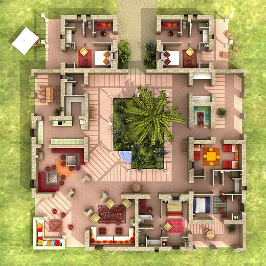 Plan Maison Avec Patio 1 Maison En 2019 House Plans House Et