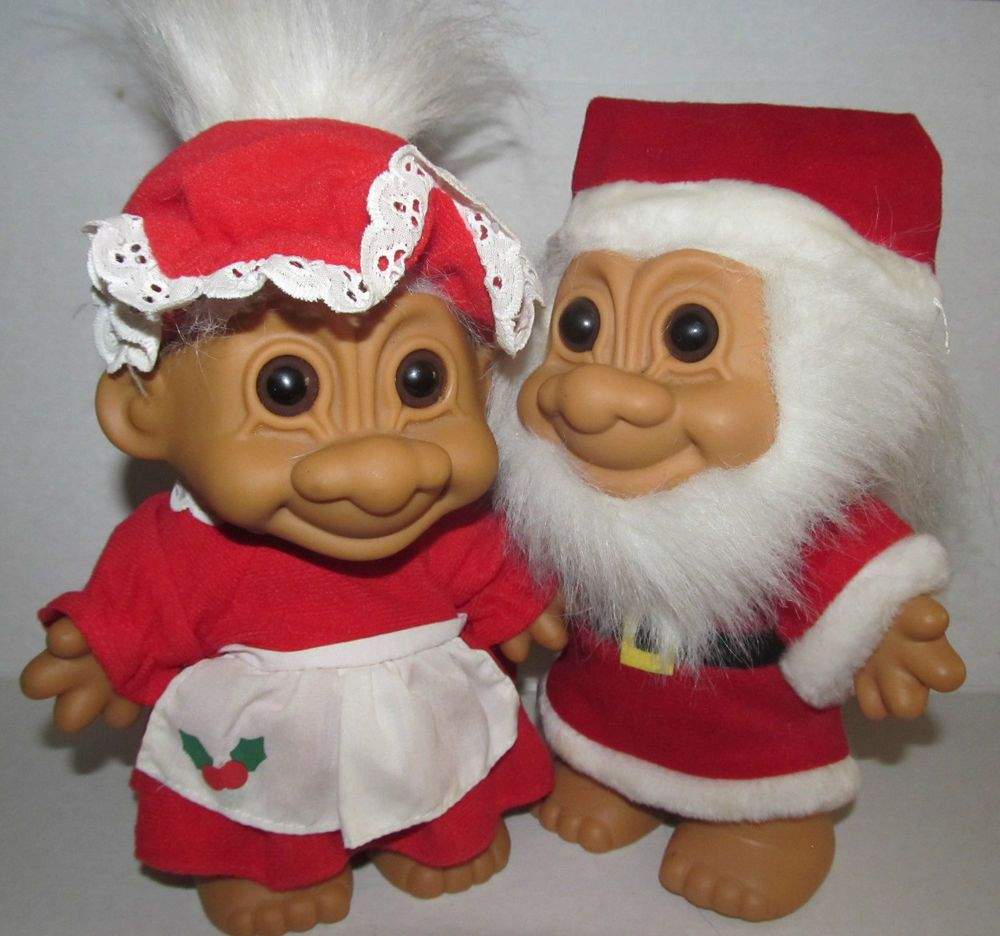 mr u0026 mrs santa claus troll dolls lot 2 russ 7