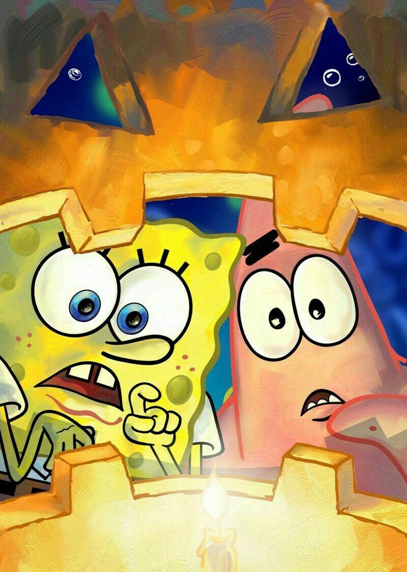 Happy Halloween Spongebob Spongebob Wallpaper Spongebob Halloween Spongebob Drawings