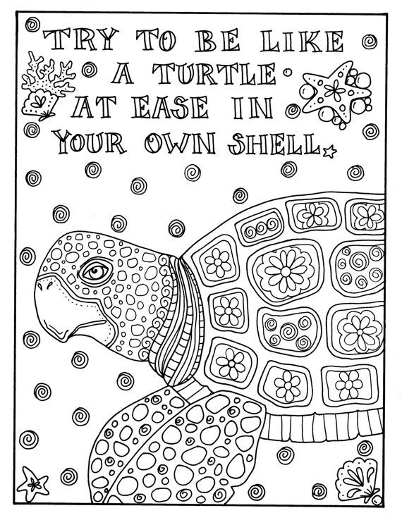 Pin de Barbara en coloring turtle, penguin | Pinterest | Dibujo