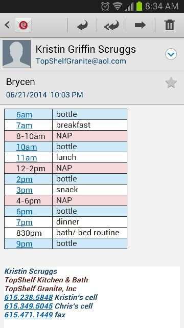 Infant Feeding Schedule Introduction Solid Food Nap Schedule