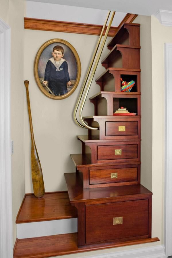 So Smart Storage Stairs For Small Spaces Stairs Design Space Saving Staircase Staircase Storage