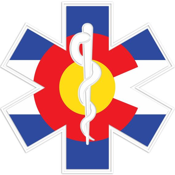 5 colorado flag medic sticker nurse sticker emt sticker paramedic sticker emergency medical ems doctor firefighter first responder