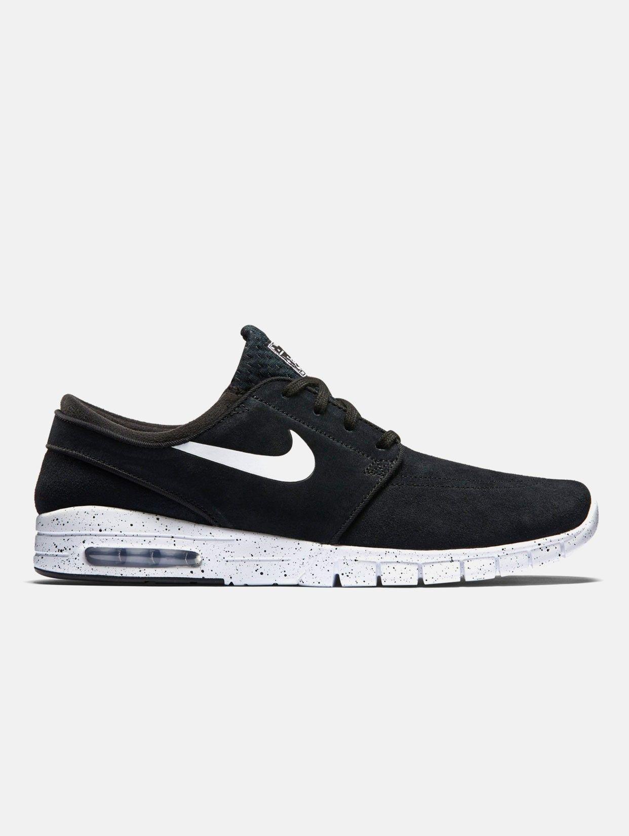 ec92cd7a61dd Nike SB Stefan Janoski Max L Suede Black White - Rollin