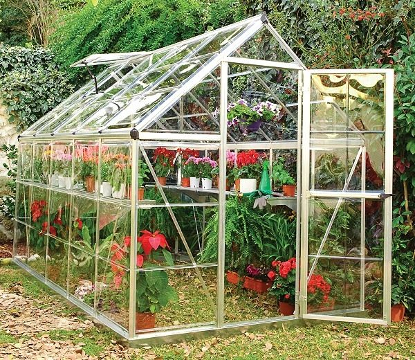 palram harmony 6x10 greenhouse in silver - Palram Greenhouse