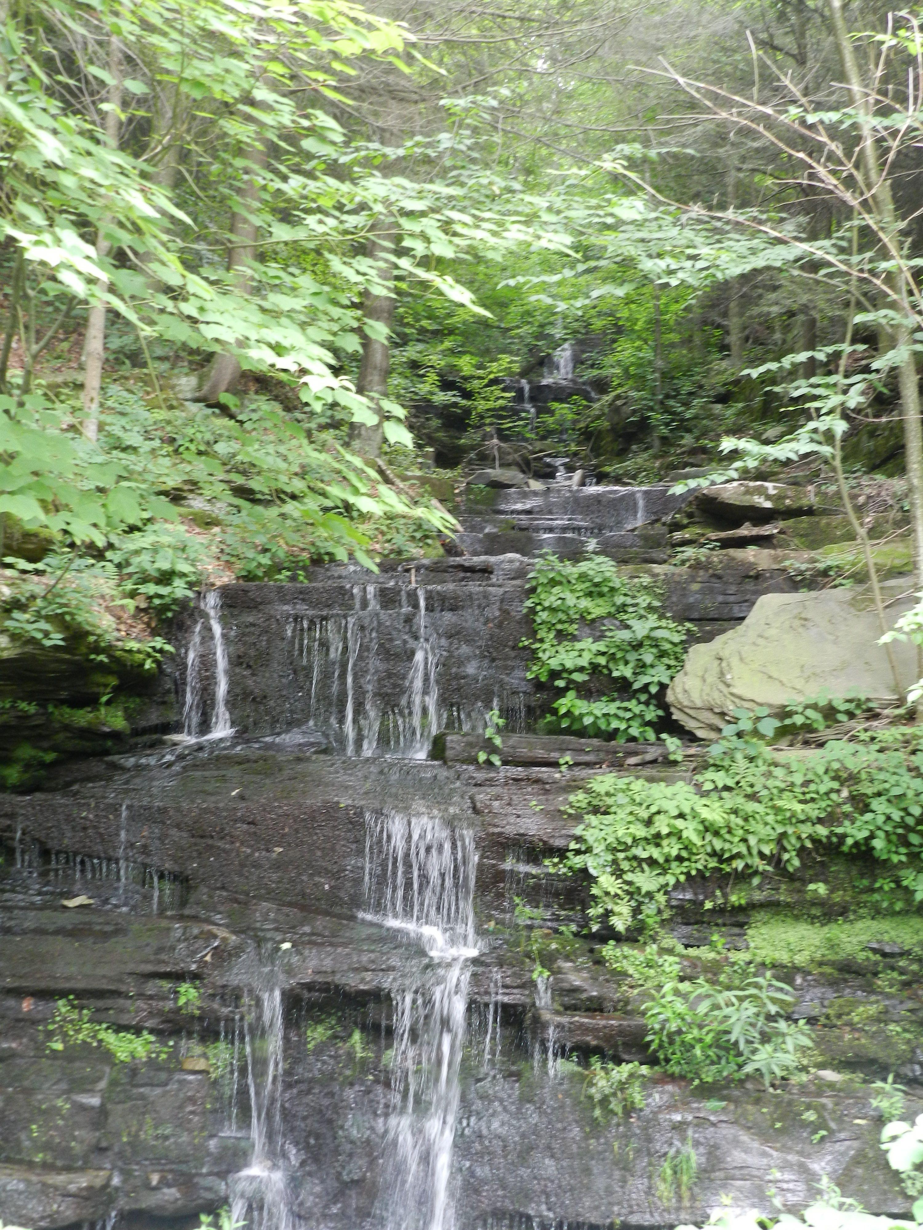 Waterfall On The Way To Sunfish Pond Leroy, Pa