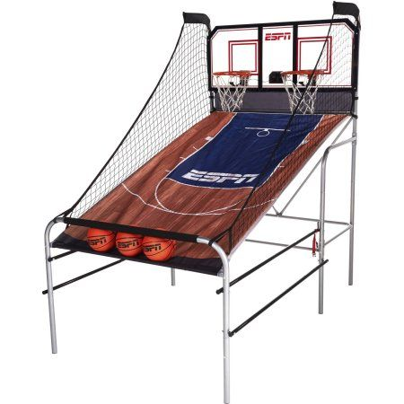 Espn 2 Player Basketball Game With Polycarbonate Backboard Led Scoring System Accessories Included Brown Blue Walmart Com 2 Player Basketball Games Basketball Games Arcade Basketball