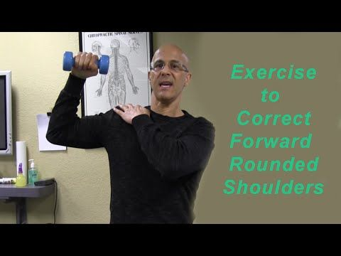 important shoulder exerciser to correct forward rounded shoulders dr mandell youtube