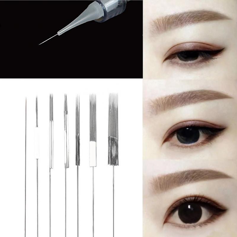 50 Stücke 7 Arten Einweg Nebel Augenbraue Permanent Eyeliner Lip Tattoo Micr ... -  50 Stücke 7 A