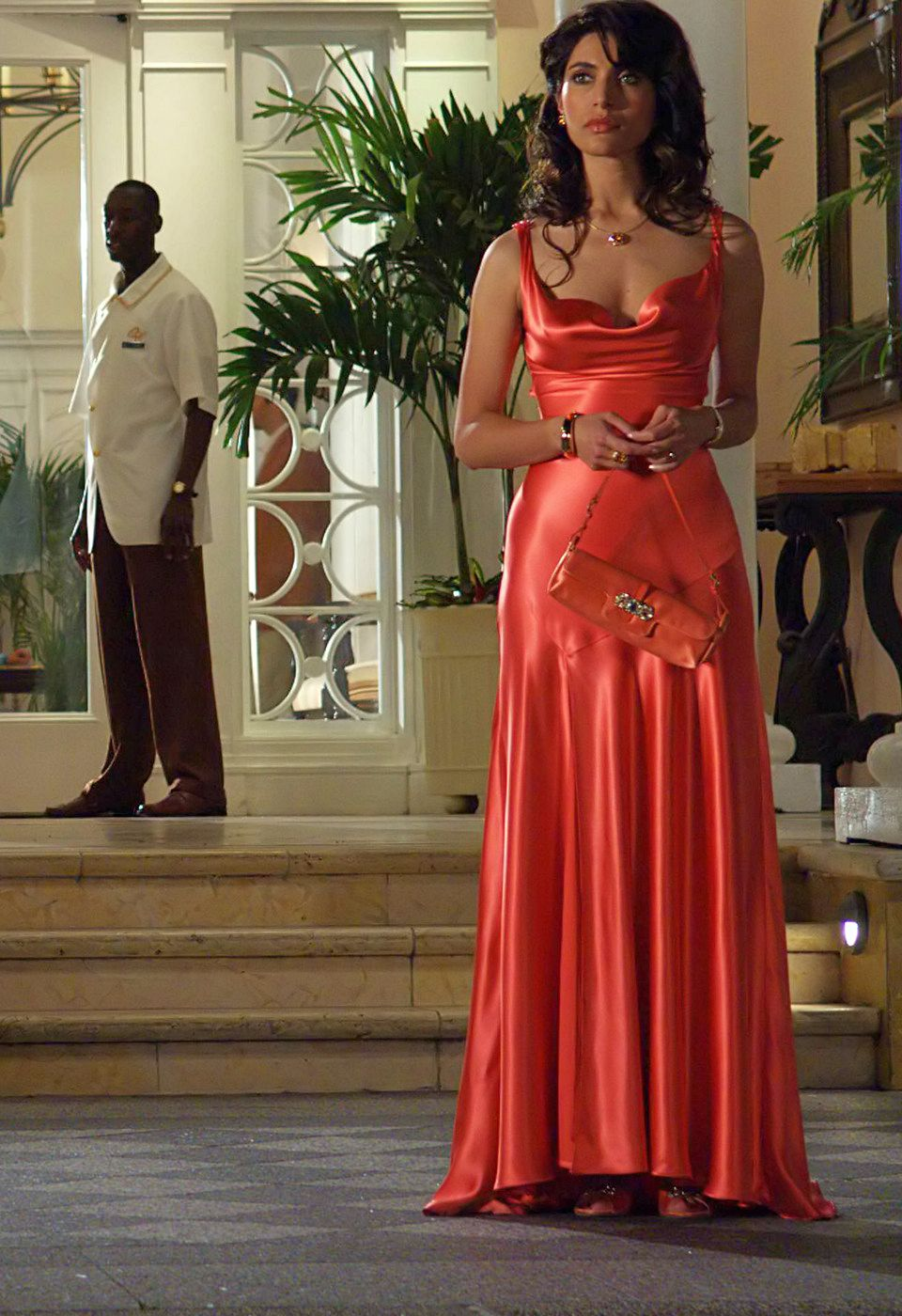 caterina murino james bond red dress wwwpixsharkcom