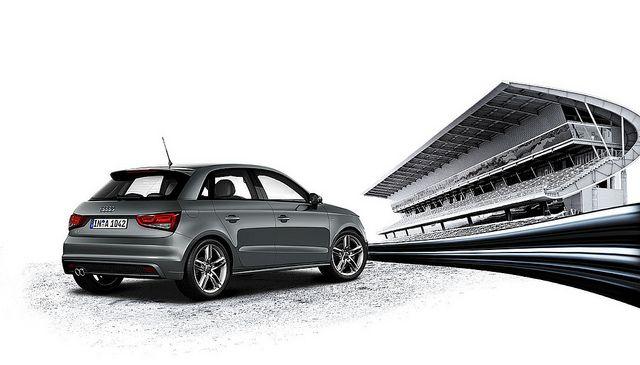 Audi A1 Sportback Daytona Grey Pearl Effect Rear Audi A1