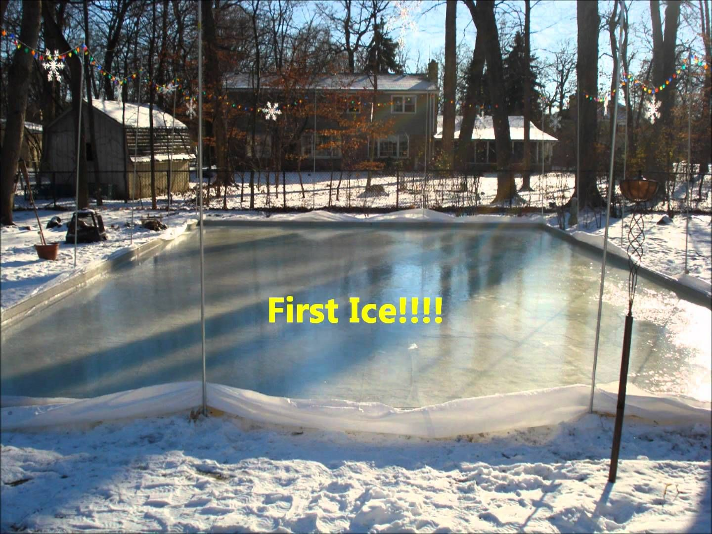 How To Build A Ice Rink In Your Backyard