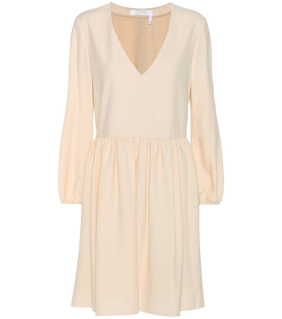 Chloé Crêpe Dress In Pieky Leige  ModeSens  Dresses, Crepe dress