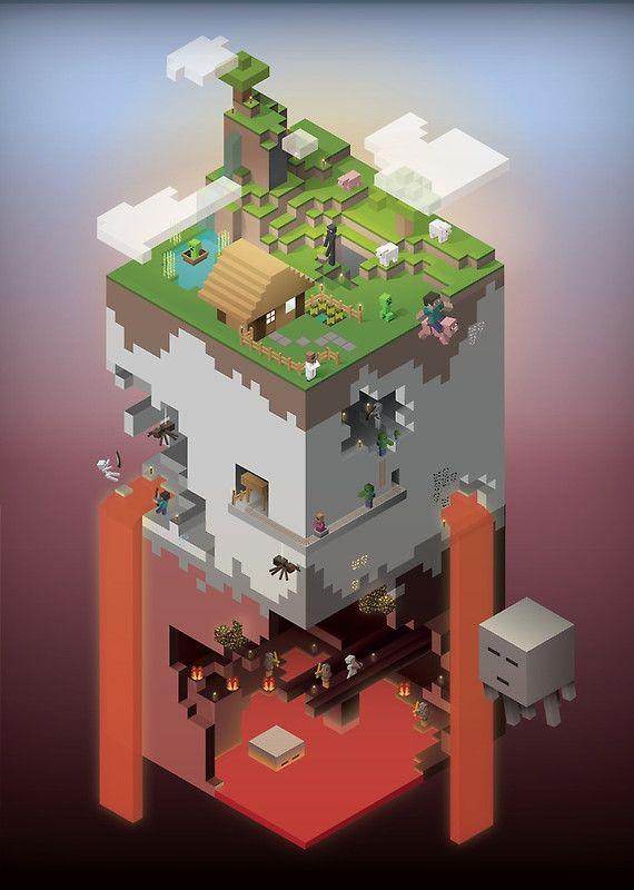 World of Blocks Poster