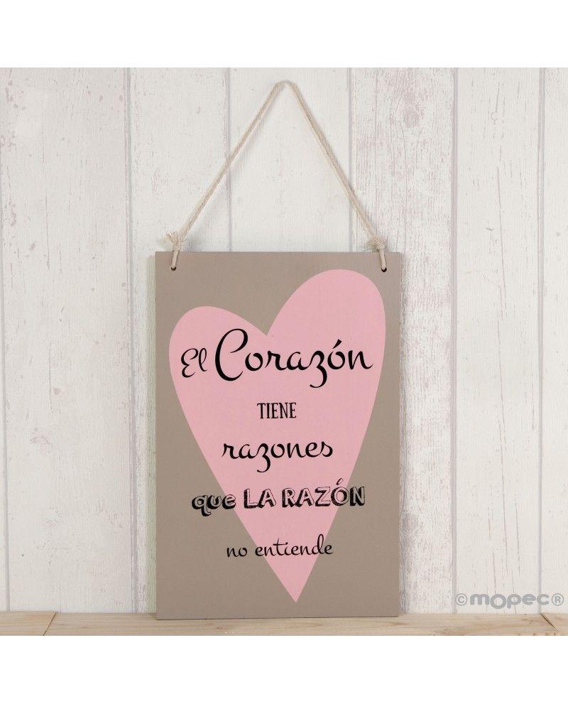 Cuadro Romántico Con Corazón Cuadros De Madera Corazones