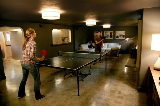 Fun And Games Making Space For Ping Pong Pool Tables Home Gym Design Home Basement Decor