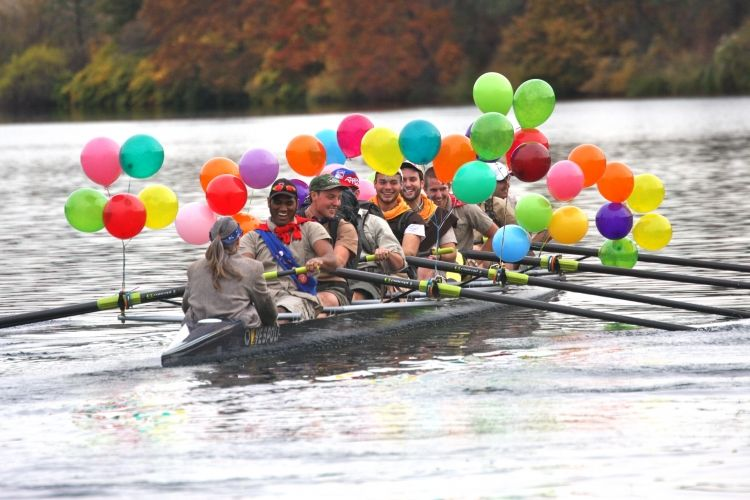 Up-themed rowing race! #rowing #rowperfect