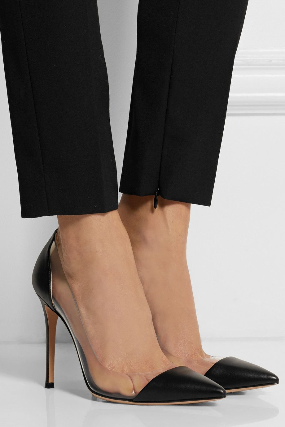 09990d03ff062 Gianvito Rossi | Leather and PVC pumps | NET-A-PORTER.COM | Stay ...