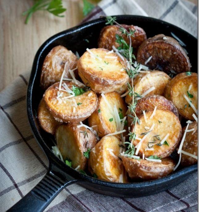 البطاطس المقرمشة المشوية