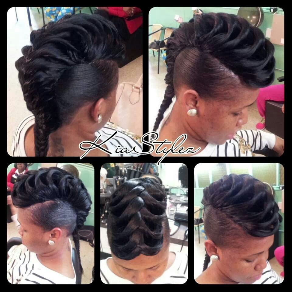 Fish tail quick weave i think i might try this style some day oh
