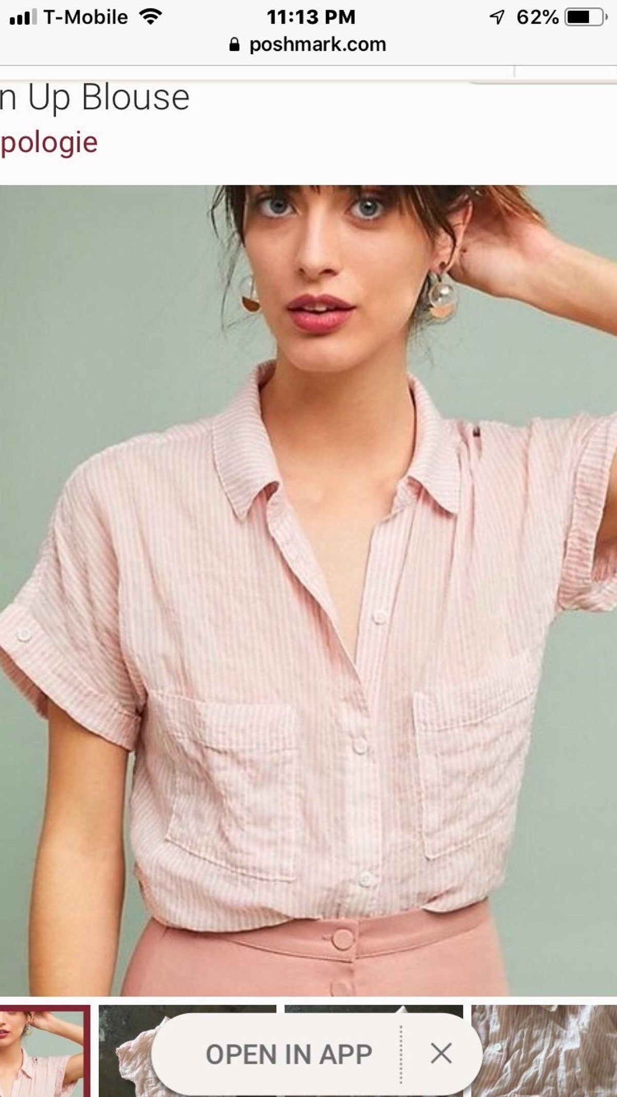 cloth and stone pink striped shirts