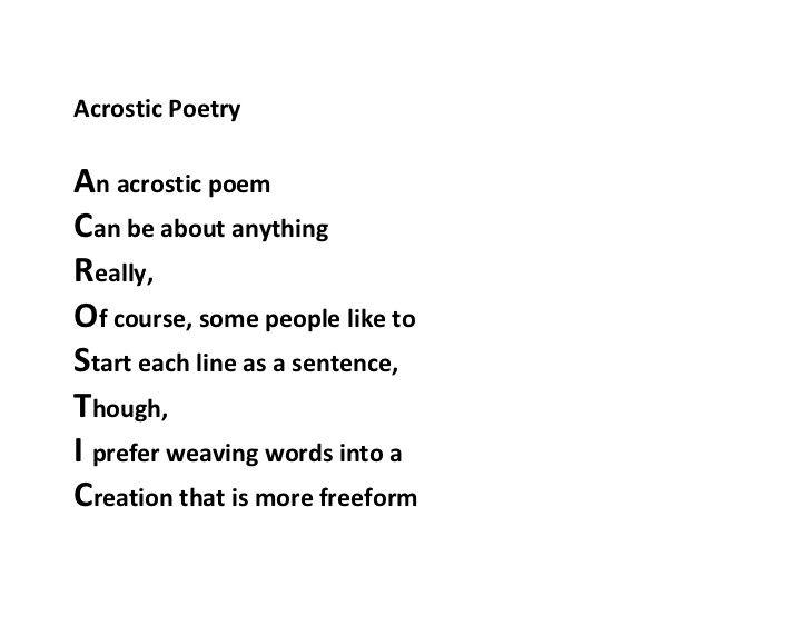 the acrostic poem of life | Poetry and Rythmes | Pinterest