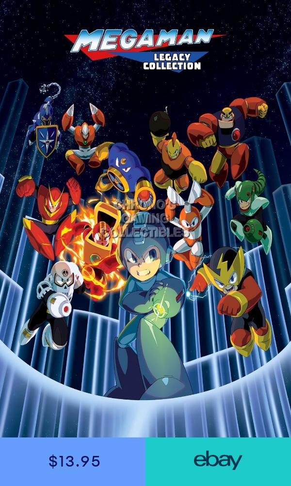 Rgc Huge Poster Mega Man 2 Legacy Collection Ps4 Xbox One Nes Mmn031 Mega Man Art Mega Man Mega Man Legacy