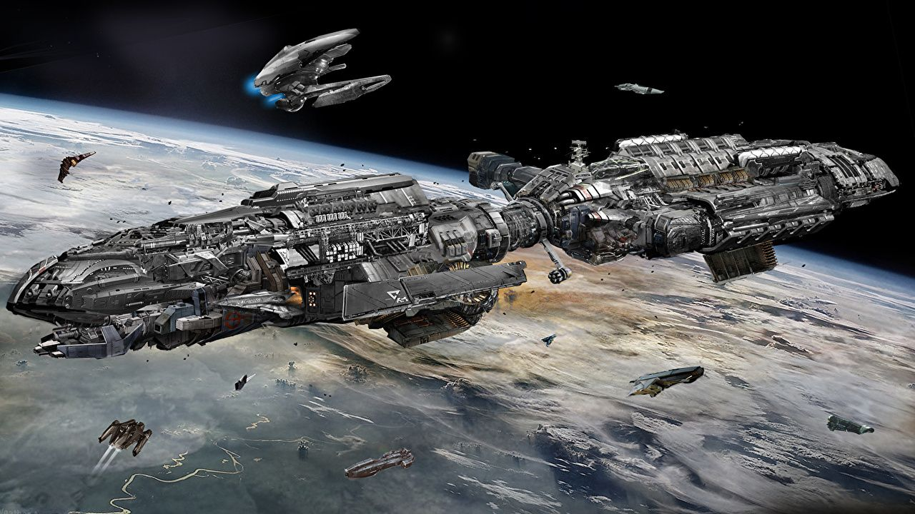 Photos Starship Space Fantasy Ships Technics Fantasy