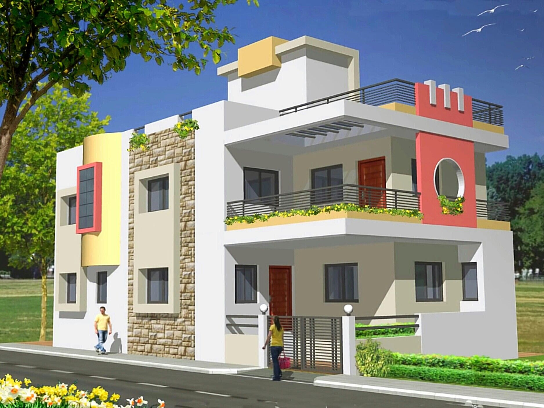 House elevation front indian plans independent homes also pin by shekhva jignesh on architecture drawing pinterest rh