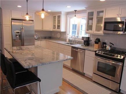 cool cape cod kitchen island design | A classic white Cape Cod kitchen | Cape Cod Kitchens in ...