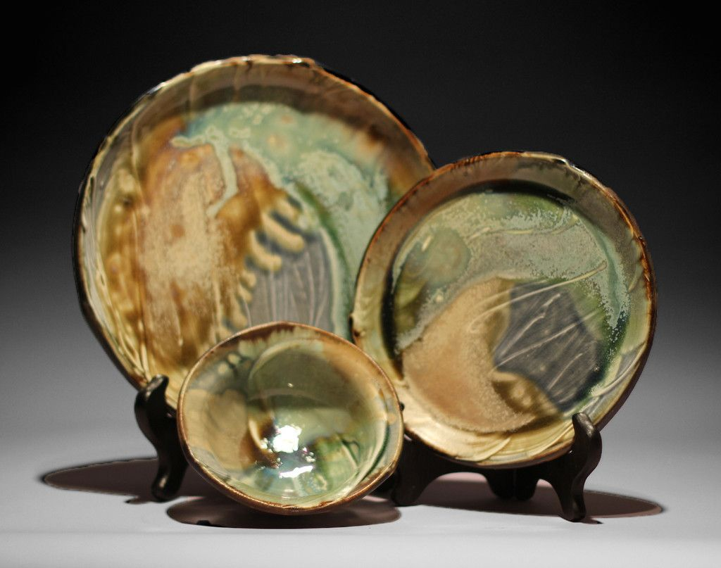 3 piece dinner set by Ansel Beck Pottery. American Made. See the designer's work at the 2015 American Made Show, Washington DC. January 16-19, 2015. americanmadeshow.com #plates, #dinnerset, #ceramic, #pottery, #americanmade
