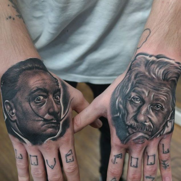 15 Incredible Albert Einstein Tattoos Ink Tattoos