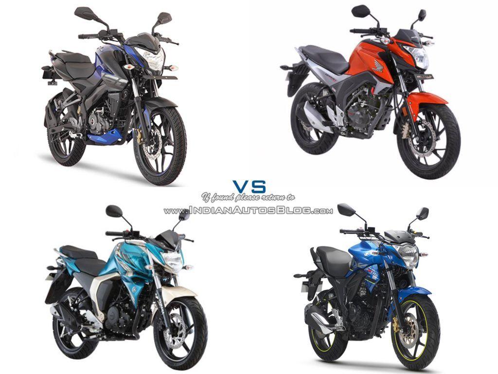 Bajaj Pulsar Ns160 Vs Suzuki Gixxer Vs Yamaha Fz S Fi Vs Honda Cb