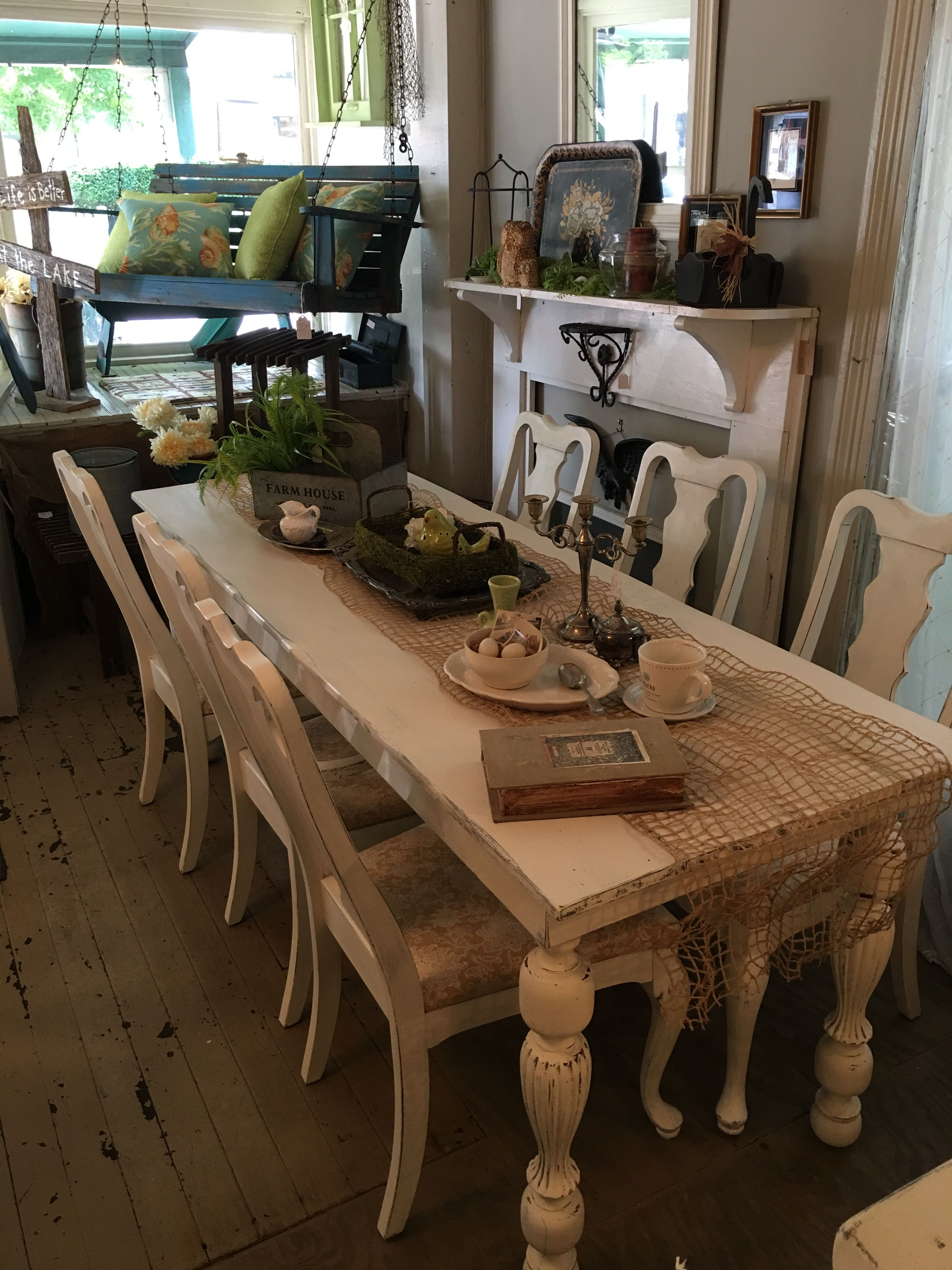 French Country farmhouse style 7 ft harvest table