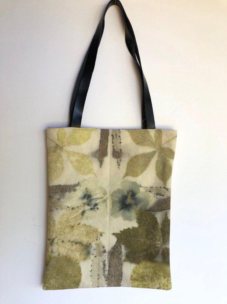 Tote bag de lana con ecoprint | Tintura de telas, Telas