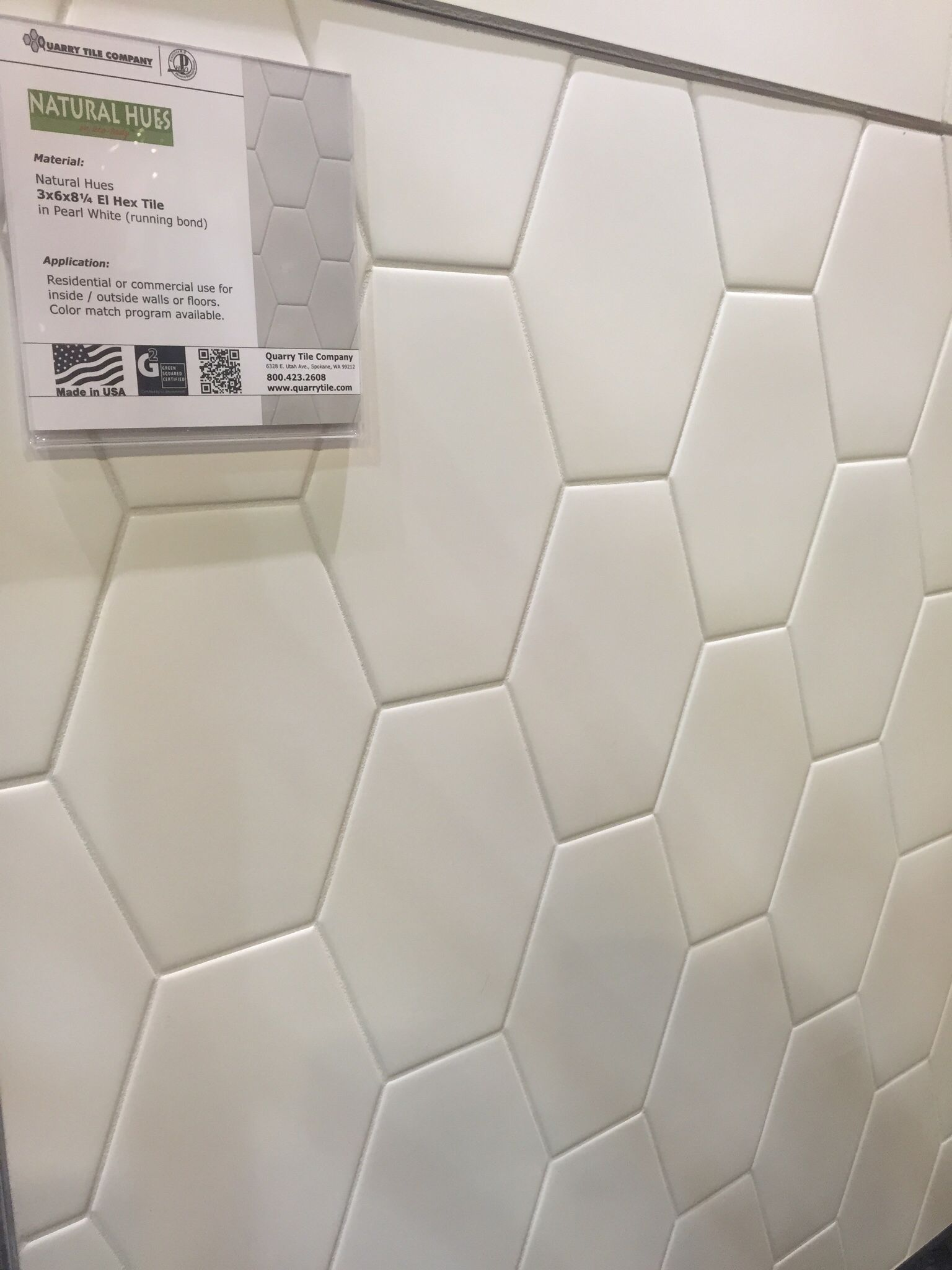 Natural Hues - 3x6x8 El Hex Daltile elongated hexagon tile white ...