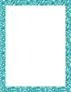 Blue Glitter Border Sobres Y Folios Decorados