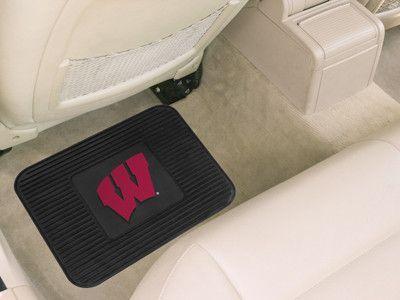 Wisconsin Badgers Car Mat Heavy Duty Vinyl Rear Seat Backorder