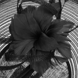 Photo of Mcburn Sinamay Flower Fascinator Hair Accessories Long Hat Wedding Hat Women's Hat McBurnMcBurn