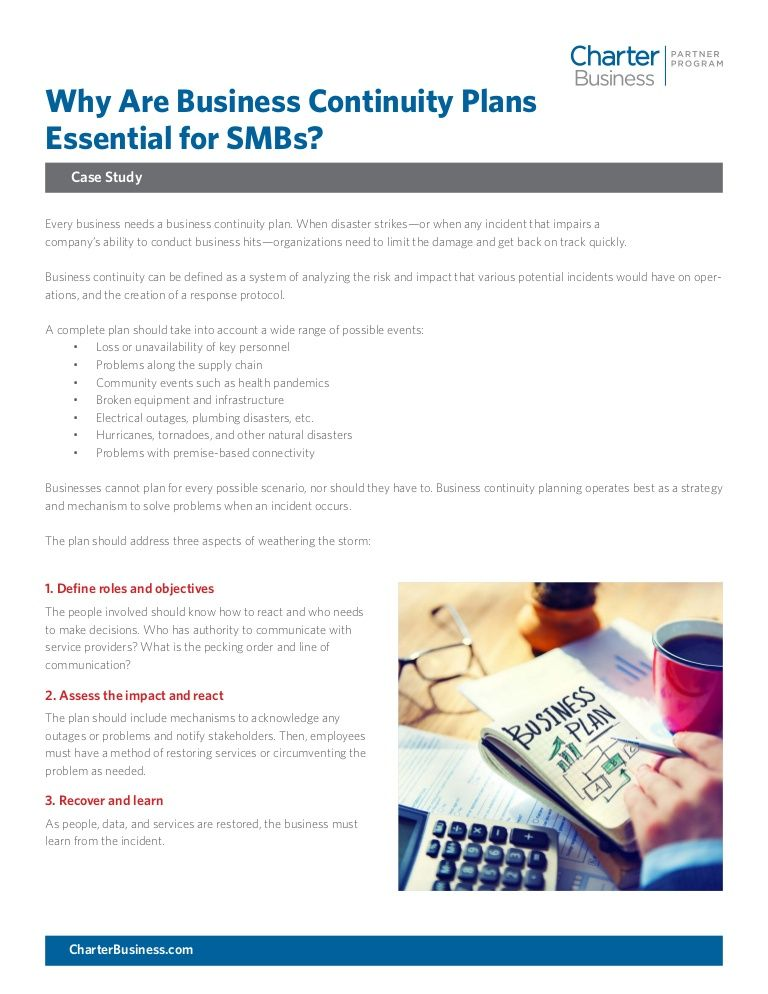 Why Are BusinessContinuity Plans Essential for SMBs
