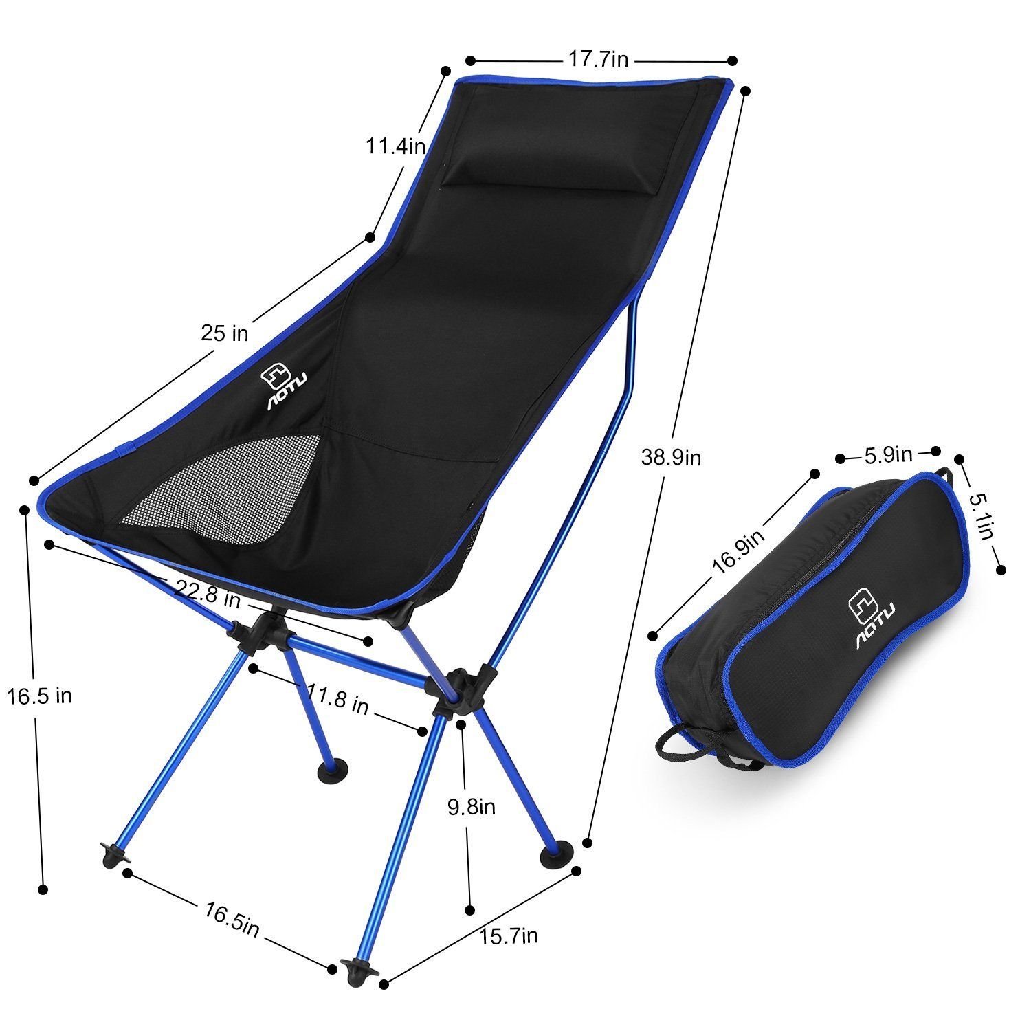 OUTAD Ultralight Outdoor Picnic Fishing Camping Folding Chairs