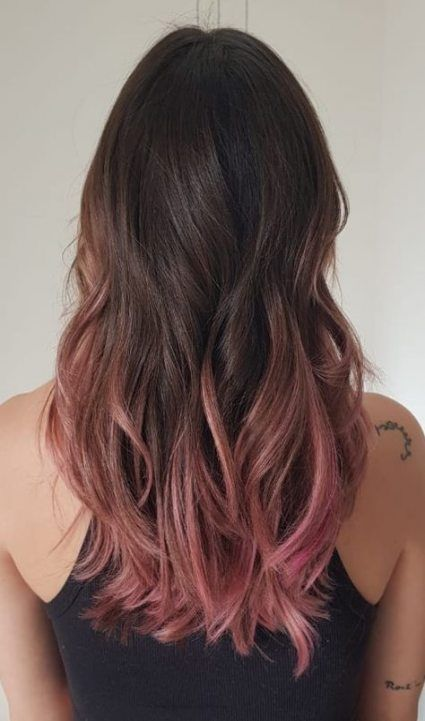 Hair Rose Gold Brown Ombre 54 Ideas Hair Color Pink Pink Ombre Hair Brown Ombre Hair