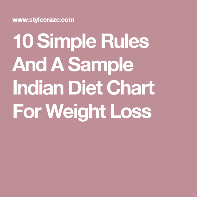 1500 Calorie Indian Diet Chart For Weight Loss And 10 Simple Rules