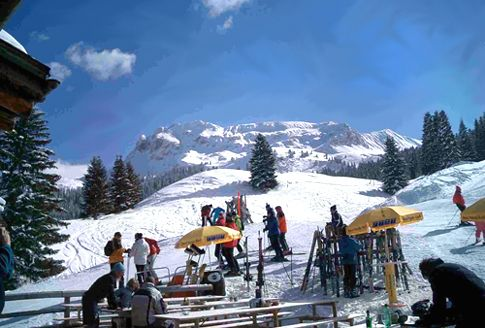 Can't believe I actually did ski here.  Beautiful Alps!  Davos, Switzerland