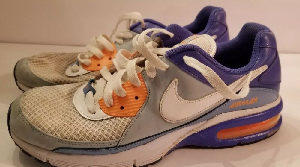 c915c08db5dce WOMENS NIKE AIR CAPTIVATE PERIWINKLE BLUE ORANGE 9.5 9 1/2 RUNNING ...