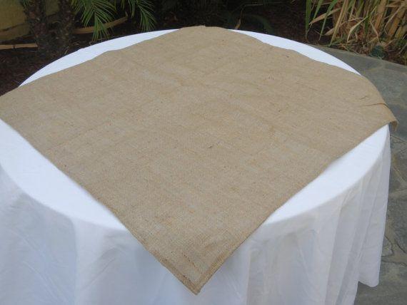 Bon Burlap Table Square, Burlap Overlay, Wedding, Party, Shower, Home Decor,  Custom Sizes